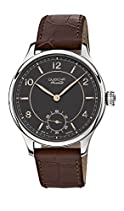 Dugena Mechanik Herren-Armbanduhr Epsilon 8 - Handaufzug Analog Handaufzug Leder 7000115