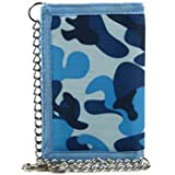 Mens Boys TriFold Slim CAMOUFLAGE Wallet with Chain & Clip Handy CAMO