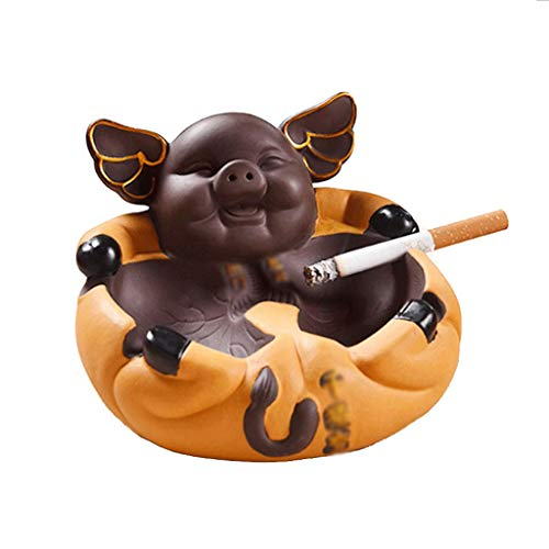 TJLSS Purple Sand Ashtray Home Decorationa Shtray Suitable For Hotels, Tea Houses