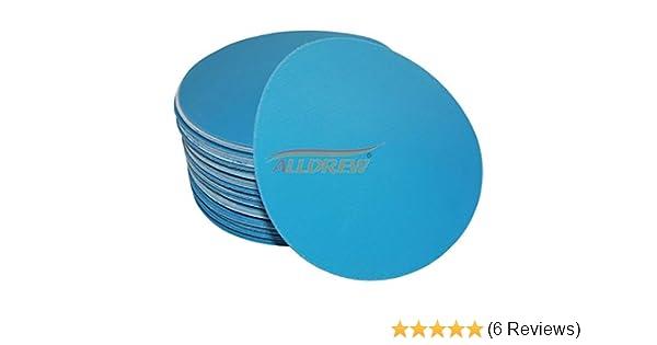 25, Grit 120 125mm Wet and Dry Sanding Discs 5 Waterproof No Hole Plain Sandpaper 40-3000 Grit Hook /& Loop Automotive Flexible Film Base