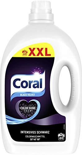 Coral Flüssigwaschmittel für intensives Schwarz Black Velvet XXL mit Faser-Schutz-Serum 60 WL 1 Stück