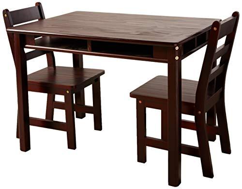 vermessen International Kind 's Rechteckiger Tisch und 2-Chair Set, Pecan Espresso -