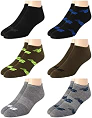 'New Balance Men's Breathable Lightweight Low Cut Socks (6 Pack), Assorted, Size Shoe Size: