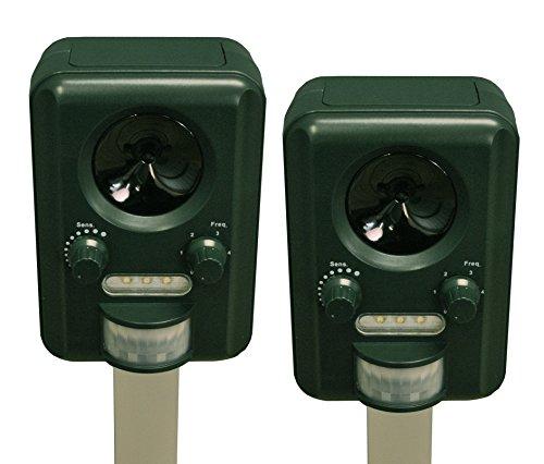 set di 2 repellenti a ultrasuoni per gatti, funzionamento a batteria, selections gfc186