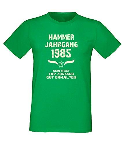 Sprüche Motiv Fun T-Shirt Geschenk zum 32. Geburtstag Hammer Jahrgang 1985 Farbe: schwarz blau rot grün braun auch in Übergrößen 3XL, 4XL, 5XL grün-01