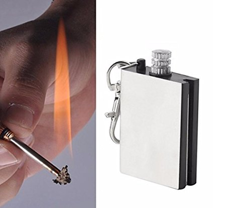 etu24 ewige Cerillas Outdoor Survival Cerillas Mechero permanente hemostáticas Magnesio Encendedor de Fuego Pedernal piedra Flint Firestone Cigarrillos De Encendido De Acero Para 15.000 Zündungen