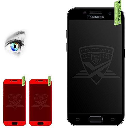 Preisvergleich Produktbild 2 x PROTOMAX 3D Schutzglas für Samsung Galaxy A5 (2017) SCHWARZ, Vollumrandung Schutzfolie Displayschutz 0,2 mm, BLACK (2er Pack)
