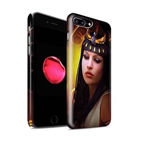 Officiel Elena Dudina Coque / Clipser Matte Etui pour Apple iPhone 8 Plus / Le Brave/Chaton Design / Les Animaux Collection Cleopatra/Serpent Doré