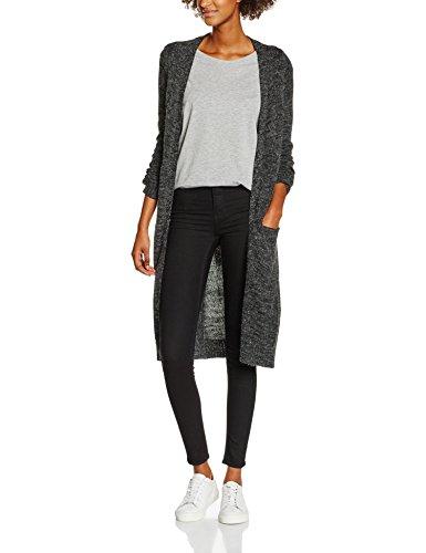 ONLY NOS Damen Strickjacke Onlnew Hayley L/S Long Cardigan KNT NOOS Grau (Dark Grey Melange) 38 (Herstellergröße: M)