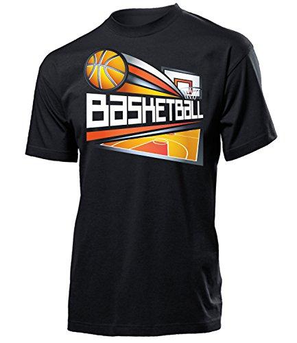 Basketball 5062 Sport Fan Shirt Tshirt Fanartikel Fanshirt Männer turniershirt Shop Sportbekleidung Herren T-Shirts Schwarz S