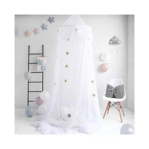 YFQ Bettdecke Kinder Moskitonetz Zelt Bett Crown Lesen Ecke Zelt Dome Moskitonetz Hängende Dekoration Indoor Spielhaus Für Baby Kinder (Color : White)