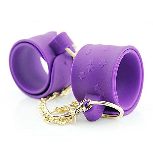 Zantec Paare Unisex Bondage Liebesspiel Falten lockiges Silikon Handschellen Erwachsenen Spielzeug
