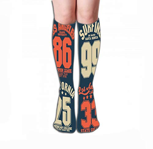 Xunulyn Hohe Socken Novelty Cotton Knee High Fun Socks for Men's Women 19.7