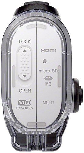Sony FDR-X1000 4K Actioncam Live-View Remote Kit (4K Modus 100/60Mbps, Full HD Modus 50Mbps, ZEISS Tessar Objektiv mit 170 Ultra-Weitwinkel, Vollständige Sensorauslesungohne Pixel Binning) weiß - 13