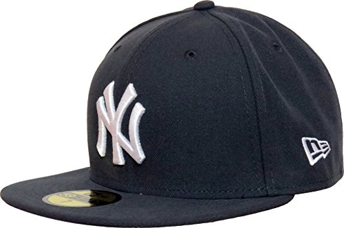 New Era Cap 59FIFTY MLB Basic New York Yankees gris/white taille 7 3/8