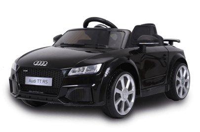 Audi TT RS 12v Licenciado con mando - Coche eléctrico para niños - Negro