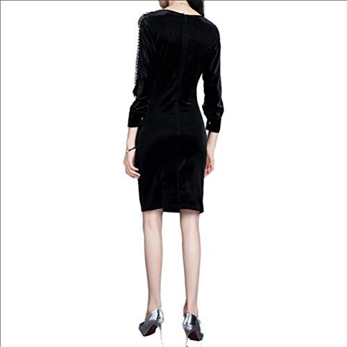 Robe en velours côtelé Black