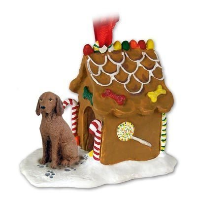 VIZSLA Hungarian Dog GINGERBREAD HOUSE Christmas Ornament NEW 97 by Eyedeal Figurines (House Dog Ornament)