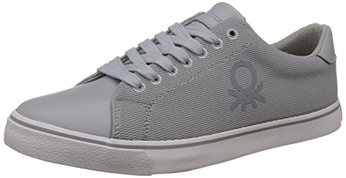 3. United Colors of Benetton Men's Grey (901) Sneakers