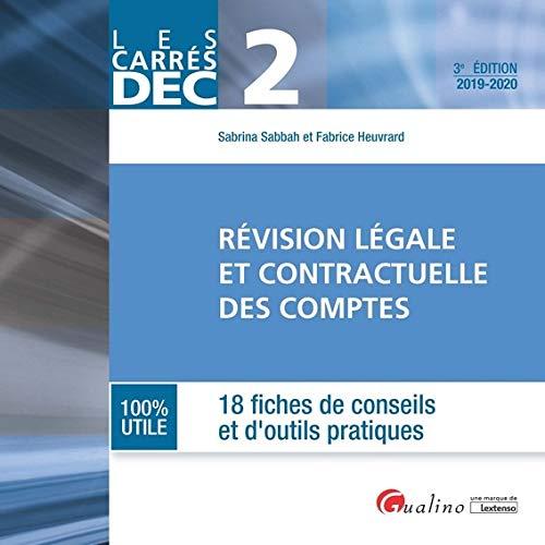 Révision légale et contractuelle des comptes DEC 2