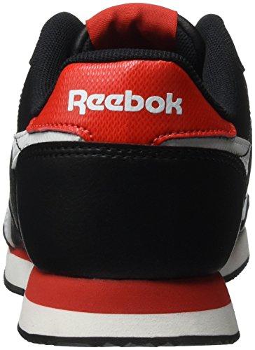 Reebok Royal Cl Jog 2l, Chaussures de Sport Garçon Noir (Black/White/Riot Red)