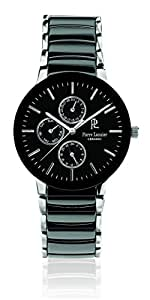 Pierre Lannier - 211G439 - Montre Homme - Quartz Analogique - Cadran Noir - Bracelet Céramique Noir