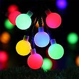 Guirlandes Lumineuses Solaires - RECESKY 50 LED 7m lumières globe - Guirlandes de Noël pour Jardin, Extérieur, Cour, Fée, Guirlande, Chambre, fête, Mariage, Fenêtre, décoration d'arbre de Noël