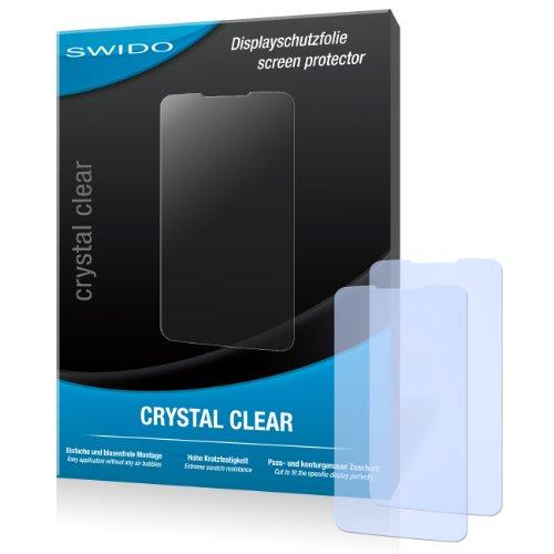 SWIDO Y033417 kristallklar hartbeschichtet Displayschutzfolie für ZTE Grand Memo (2-er Pack)