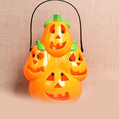 FreF Solar-LED-Lichterkette, Halloween Kürbis Lampe Lichterkette Wasserdicht Halloween Weihnachtsfest - Solar Power Kostüm