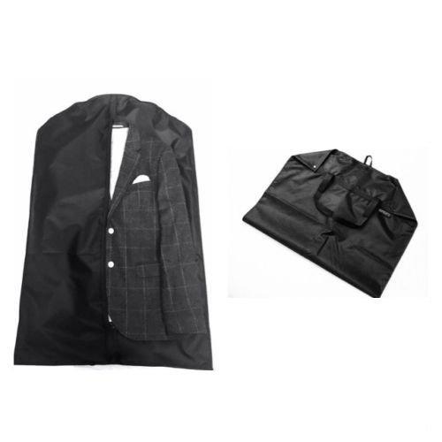 Dom'Suits Premium atmungsaktiver Kleidersack / Kleiderhülle mit extra Tragegriff für Ihre Reise - 100x63cm - faltbar - Anzugsack/Anzugtasche ideale Kleideraufbewahrung für mehrere Anzüge, Hemden oder Kleider - schwarz