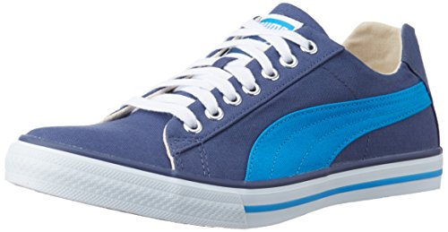 Puma Unisex Hip Hop 4 Ind. Insignia Blue and Blue Aster Canvas Sneakers - 7 UK