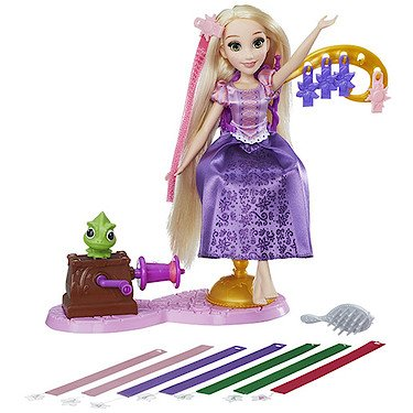 Rapunzels – Fantastischer Frisierspaß – 1 Puppe mit Styling-Station (Rapunzel Pascal Spielzeug)