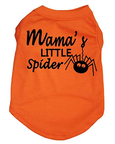 Petitebelle Halloween Mama 's Little Spider Orange Shirt Puppy Hunde ()