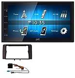 JVC KW-M24BT 2DIN Bluetooth MP3 Aux USB Autoradio für Audi A3 (03-12 8P) Quadlock