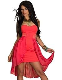 Vokuhila-Kleid Chiffon robes verfügbar in 2 Größen und 6 Farben