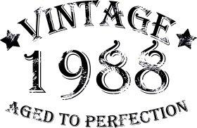 Mister Merchandise Tote Bag Vintage 1988 - Aged to Perfection 27 28 Borsa Bagaglio , Colore: Nero Naturale
