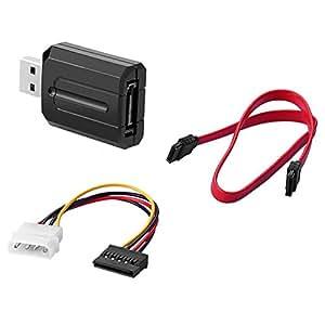"""SIENOC 5Gbps Adattatore USB 3.0 SATA con luce a LED per hard disk da 2,5 """"da 3,5""""+ Cavo di alimentazione 15pin a 4 pin +18 inch Sata Cavo"""