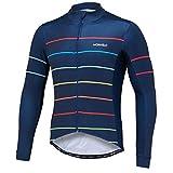Qianliuk Mens Voller Reißverschluss Jersey Kleidung,Sring Winter Langarm Anti-Pilling Atmungsaktive Fahrrad Radfahren Kleidung Mit Taschen