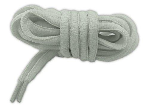 NEON Schnürsenkel Sport OVAL 125cm Hochwertige Qualität (weiß)