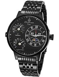 Burgmeister Montana BM309-622 - Reloj de caballero automático, correa de acero inoxidable color negro