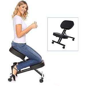 Himimi Kniestuhl Ergonomischer Verstellbarer Kniehocker Sitzhocker Bürohocker für Zuhause und Büro