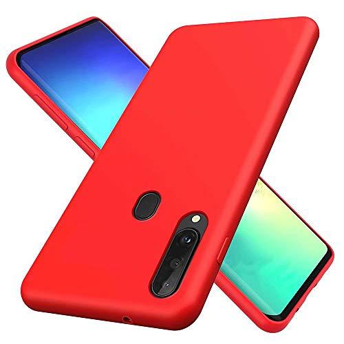 DYGG Hülle Kompatibel mit Samsung Galaxy a20s Case Covers Silikon, Ultraleichte Soft TPU Schutzhülle Stoßfeste/Kratzfeste Bumper Handy Case - Rot