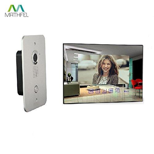 2 Draht Video Türsprechanlage Gegensprechanlage mit 7 \'\' Monitor (Spiegelglas)