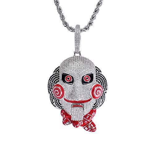 Selia Hip Hop Maske Doll Chainsaw Cry Pendant Mouth Movable Large Edition Hiphop Tide Fashion (Doll Masken)
