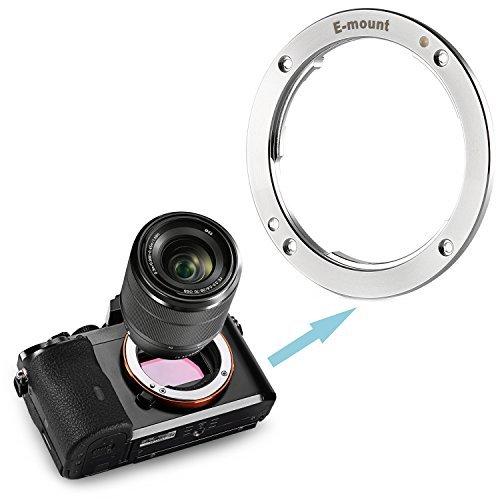 Neewer® Verchromte Copper Metal-Objektivanschluss Ersatz für Sony NEX E-Mount-APS-C und Vollformat-Kameras wie A7 / A7S / A7R / A7II / A6000 / NEX-3 / NEX-5 / NEX-3C / NEX-5N / NEX-7 / NEX-F3 / NEX-5R / NEX6 (Silber)