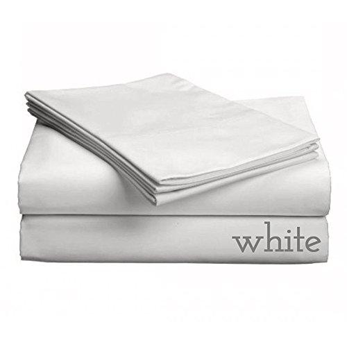 Gotcha Luxe Collection 618CT gekämmte Baumwolle Satin Weave Low Profil mit Matratzen bis 27,9cm Tabelle Sets Twin XL weiß - Luxe Baumwolle Collection