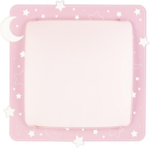 Dalber 43236S Decken/Wandlampe Mond und Sterne, Metall, rosa, 41,5 x 41 x 75 cm