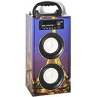 Reproductor DigiVolt BT-2008 by MovilCom | altavoz bluetooth radio FM MP3 USB Entrada AUX Mando, Torre Eifel