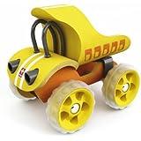 Hape 821517 - Camión de madera, color amarillo