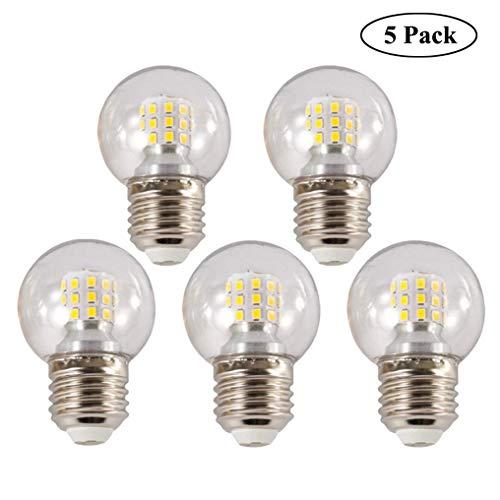 XMYX E27 LED Glühbirne Mini Globe Birne Energiesparen LED Golfball Birnen Lampe - 5 Stück,WhiteLight9W (Mini-kugel-leuchten)